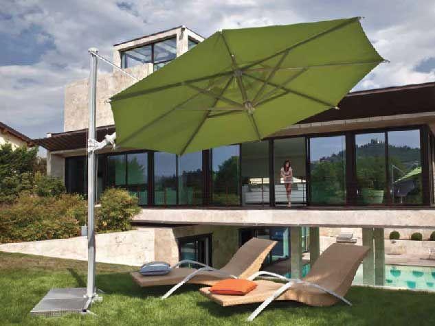 Ombrellone Garda Tilt Silver di Fim.  #ombrelloni #giardino #arredo #madeinitaly