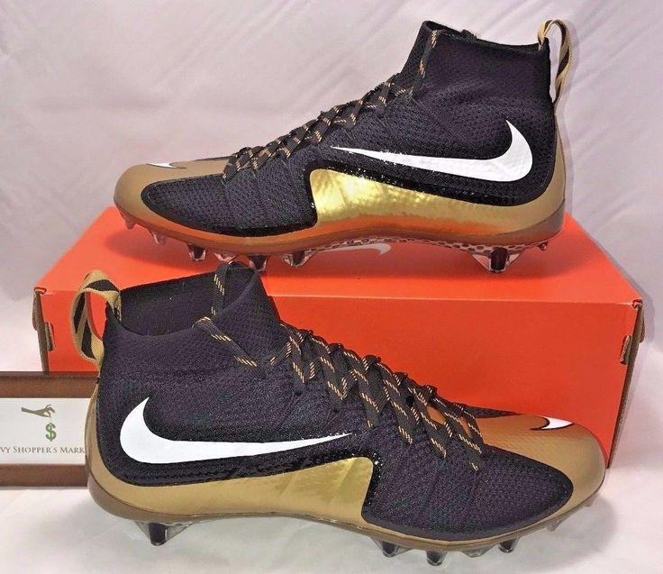 NIKE MENS SIZE 12 VAPOR UNTOUCHABLE 1 TD FOOTBALL CLEATS BLACK GOLD NEW RARE