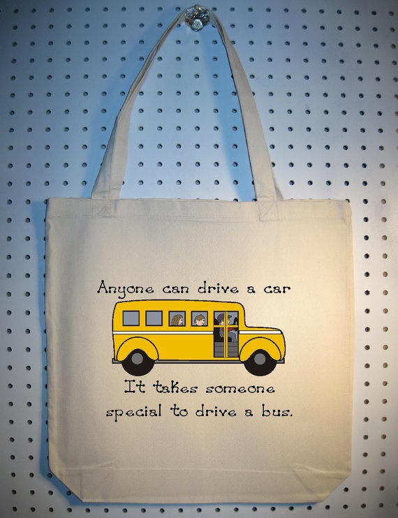 Great kid craft idea: make stenciled tote bag and fill with homemade treats and an appreciation note for your school bus driver!