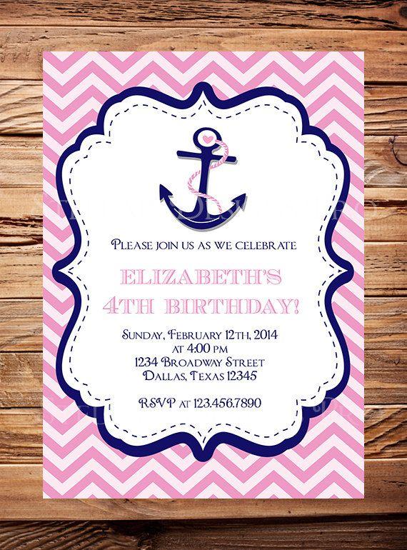 Best 25 Nautical birthday invitations ideas on Pinterest Ocean