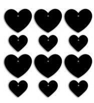 "Tag lavagna ""cuore"" _ due formati assortiti (12pz)-20"