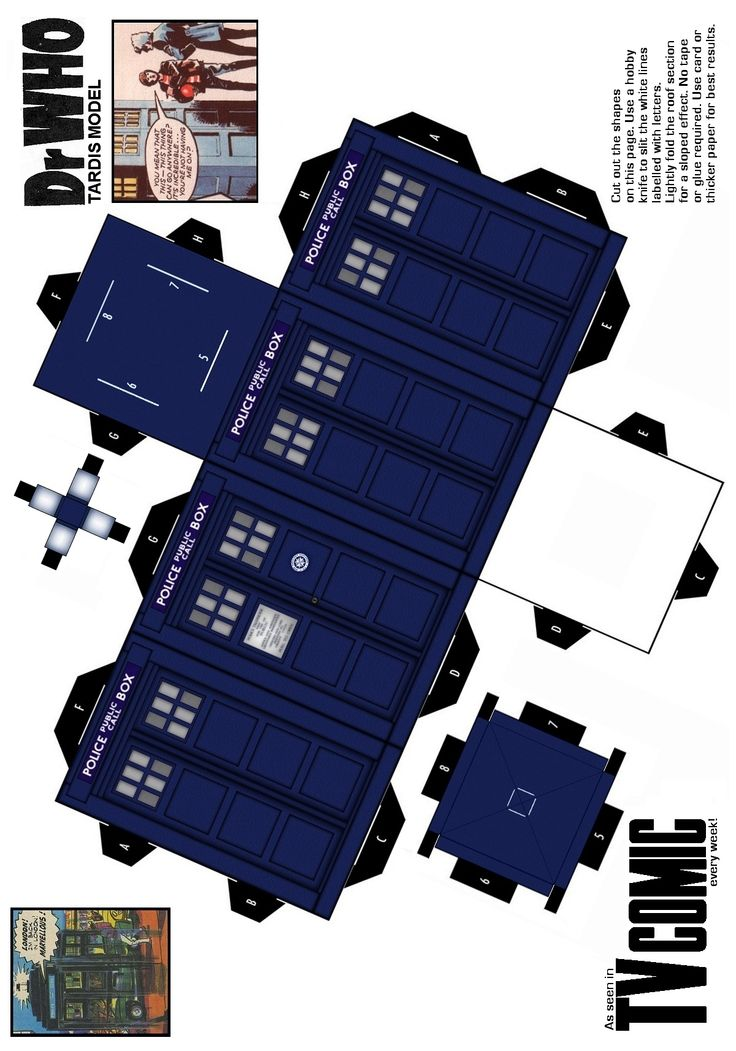 TARDIS paper model - if someone I loved knew I loved doctor who - engagement box;D