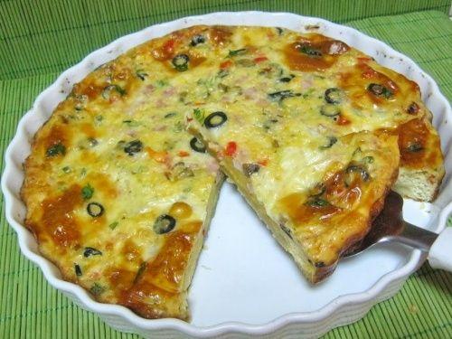 Tarta aperitiv omleta - imagine 1 mare