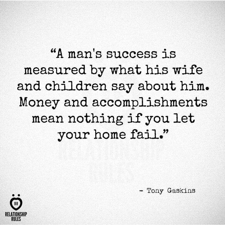 A Man's Success Is Measured