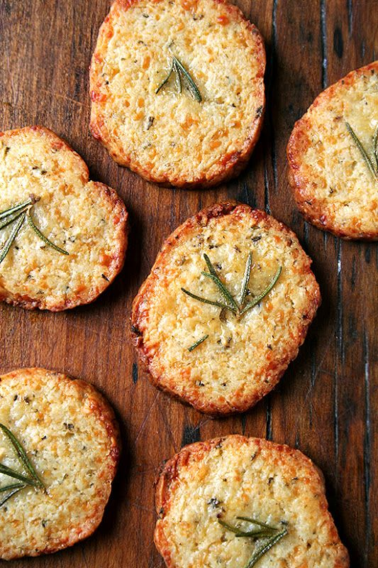 Parmesan-rosemary crackers.: Sour Cream, Eggs White, Crackers Recipes, Parmesan Rosemary Crackers, Breads, Appetizers, Food Processor, Homemade Crackers, Parmesanrosemari Crackers