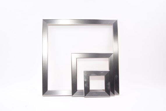 Stainless Steel Square Picture Frames From 4x4 5x5 8x8 12x12 10x10 14x14 20x20 24x24 Or Any Custom Sizes Available Products In 2019 Picture Frames Frame Large Frames