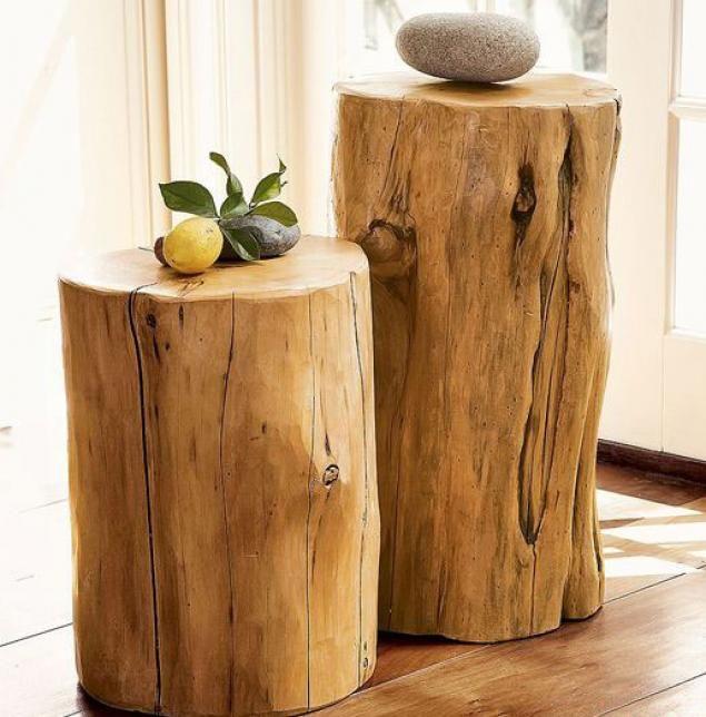 Просто и со вкусом: деревянные тумбочки из сруба
