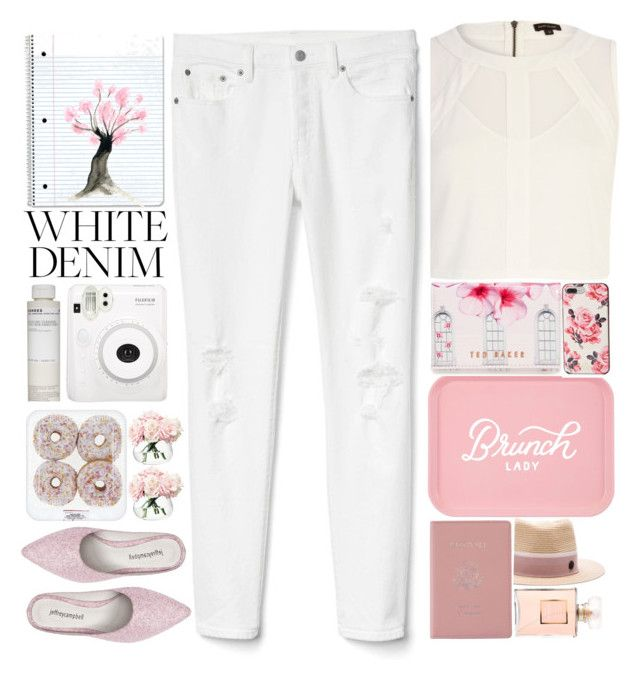 """1715"" by mykatty091 ❤ liked on Polyvore featuring Maison Michel, River Island, Gap, Royce Leather, Chanel, Ted Baker, LSA International, Kate Spade, Korres and Jeffrey Campbell"