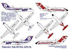 Yakovlev Yak-40 | Lima Oscar Decals - Kalkomanie - samoloty - skala 1:144 - Yakovlev Yak ...