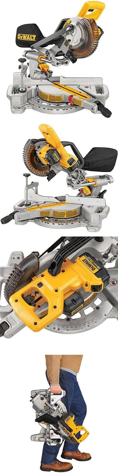 miter saw labeled. tools: dewalt dcs361b 20v max cordless 7-1/4 sliding compound miter saw labeled