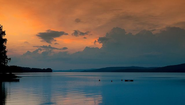 Nightfall at Fryken sweden | Flickr - Kjellsfoto