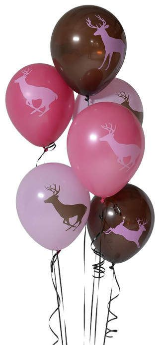 These pink deer balloons make the perfect girls camo party decorations! If she is into buck hunting, this 6 piece set of 12 inch latex balloons will be just right!  ** 6 latex balloons per order (printed, 12-inch balloons)  ** Each balloon has 2 different buck designs (1 on front, 1 on back)  ** can be filled with air or helium  ** Also available in traditional camo colors! see link below  ** Coordinates with our pink camo straws and plates. See them here: https://www.etsy.com/...