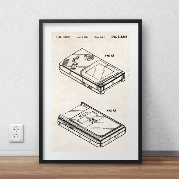 Game boy - Patent Poster - DIGITAL PRINTABLE poster - Instant Download - Jpg-file - A4