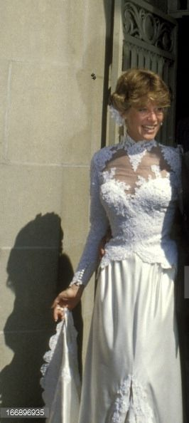 Debby Boone's lovely, lacy wedding gown