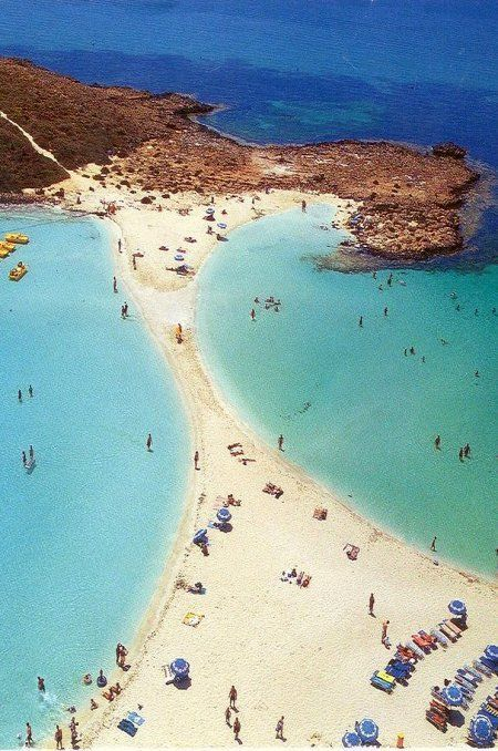 A little strip of paradise beach in Ayia Napa, Cyprus /// #travel #wanderlust