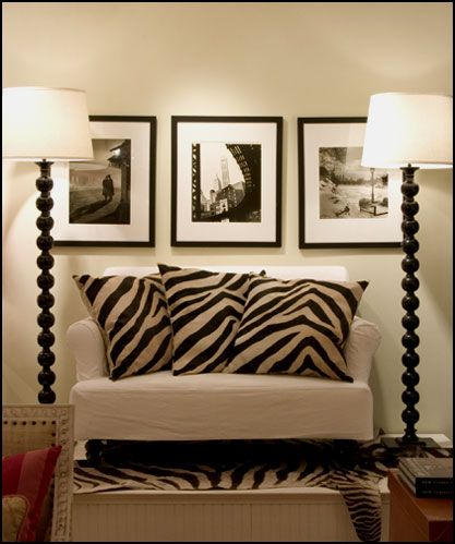 zebra print decor kinda digg this