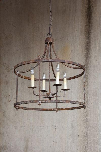 I LOVE this SAVANNAH IRON PENDANT LIGHT FIXTURE HUGE Hanging Chandelier