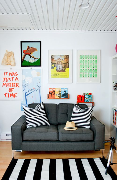 clássica parede de quadrinhos coloridos.