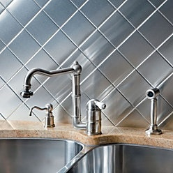 metal stick on tiles for the home pinterest