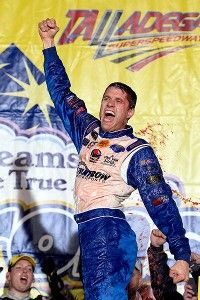We love this picture of our friend David Ragan, taken just after his win at Talladega in 2013! Repinned from ESPN.go.com. #TBT
