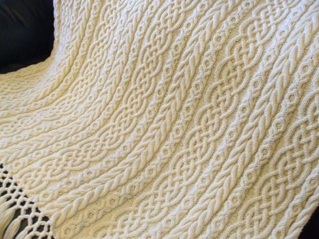 celtic aran afghan hand knit