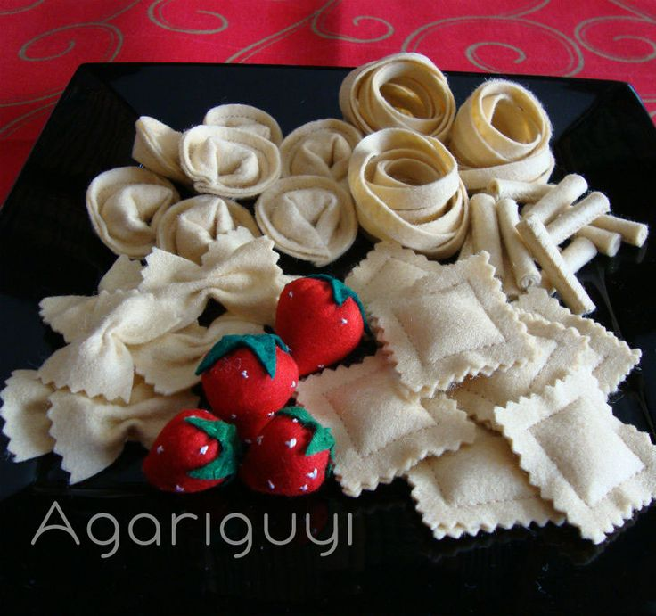 Pasta italiana hecha de #fieltro by #Agariguyi