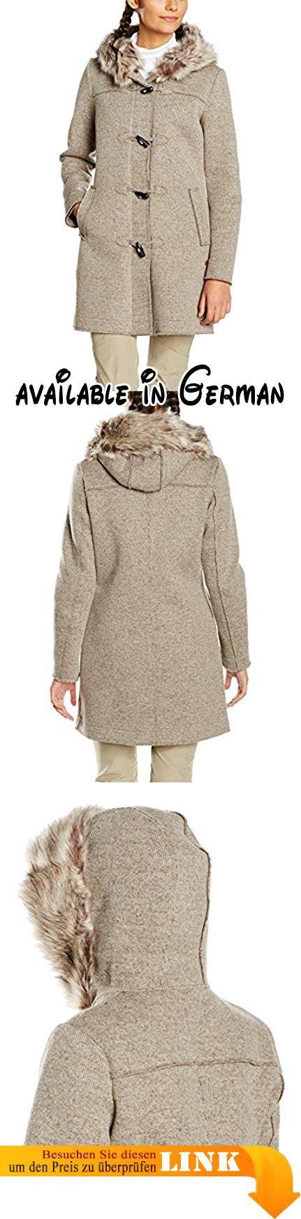 CMP Damen Walk/Woll-Mantel Walkmantel, Sand Mel/Wood, 44. Wollmantel. Walkmantel. modisch und trendy. Wooltech. Windabweisend #Sports #SPORTING_GOODS