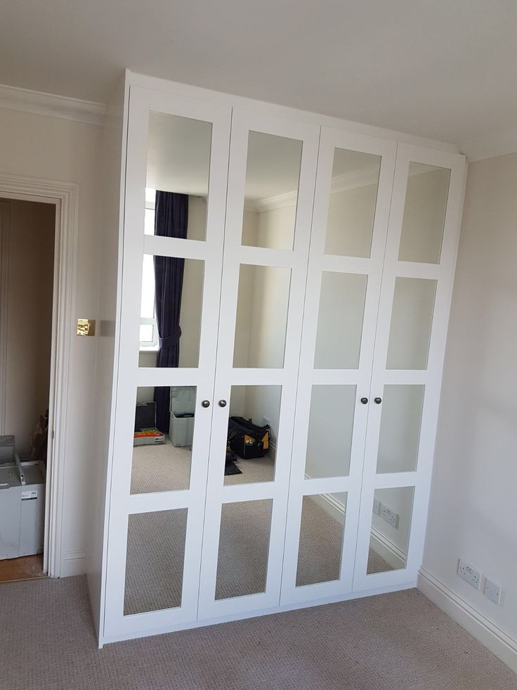 Vetro fitted spray painted doors with mirrors
