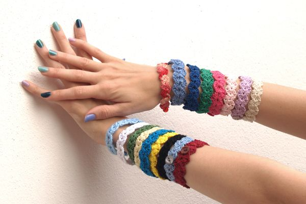 pulseras de ganchillo / crochet bracelets