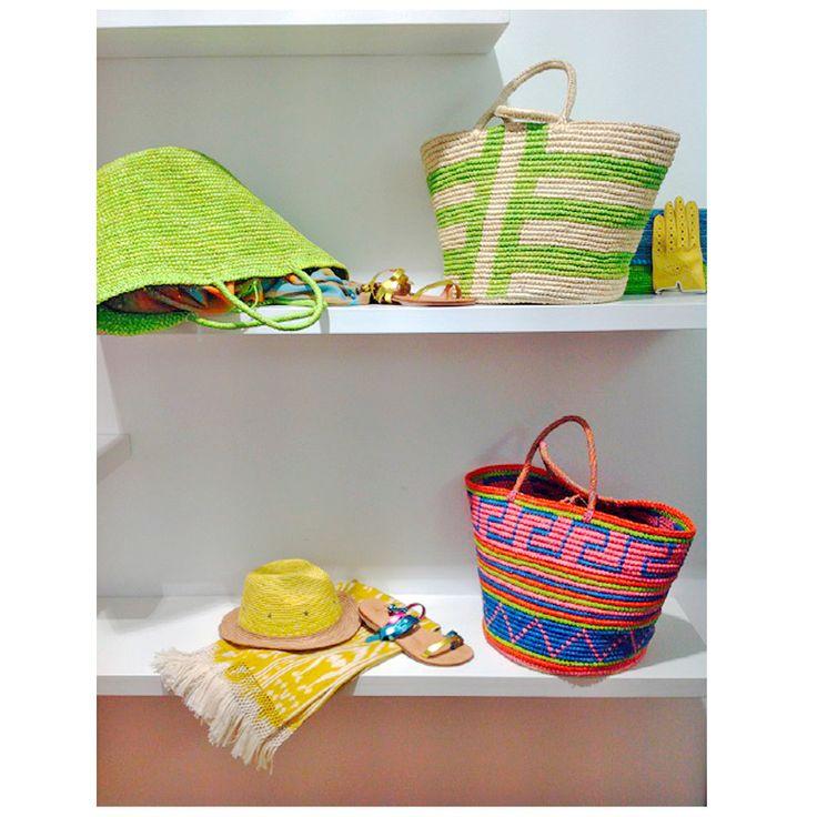 Winwood Fashion Showroom display of our SS15 collection.#sensistudio #handbags