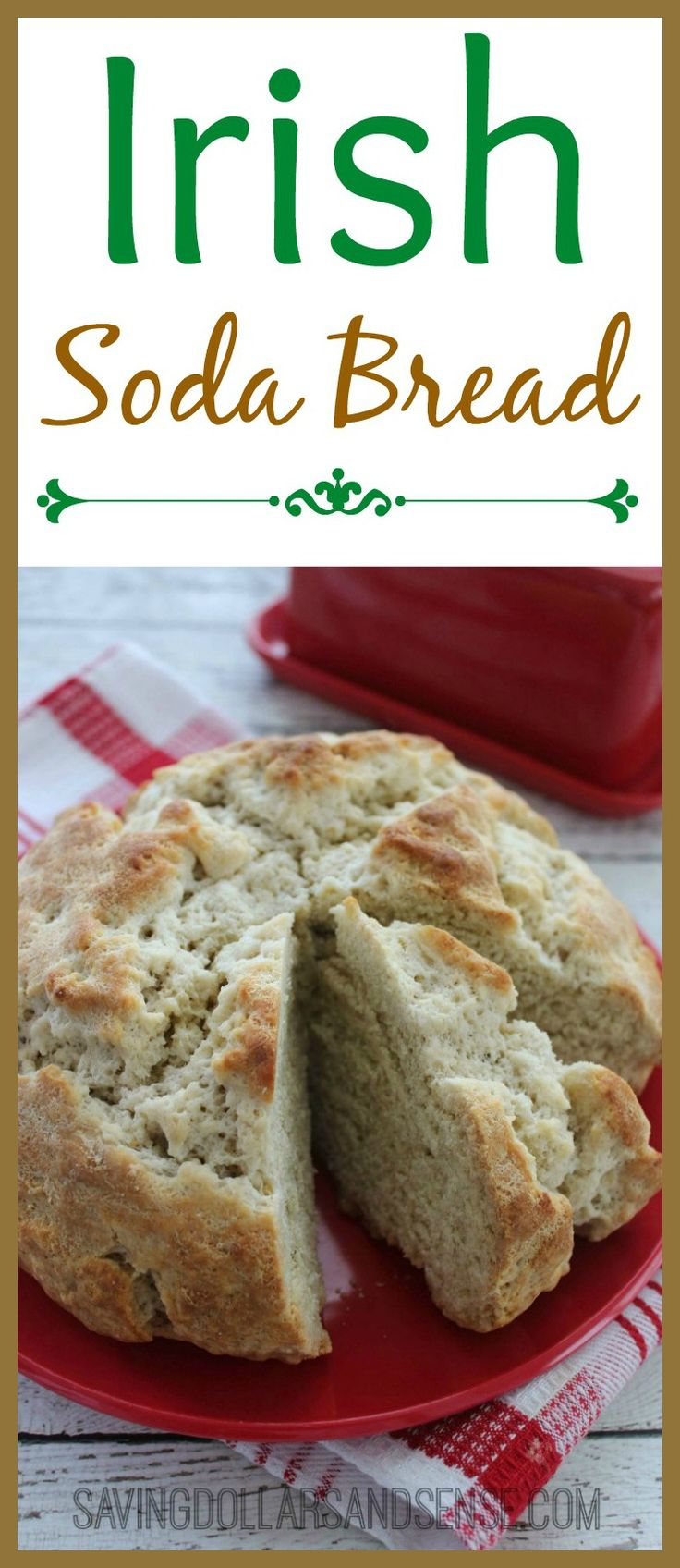 Homemade Irish Soda Bread is the perfect addition to your St. Patricks Day Dinner or anytime, and SO easy to make!