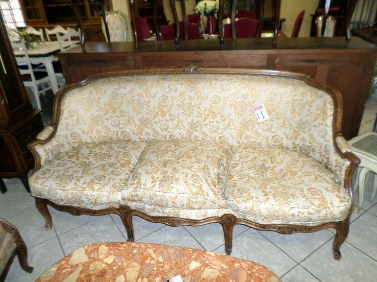 Vintage 3 seater sofa in Louis XV Style.