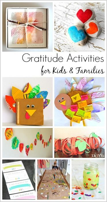 Gratitude Activities for Kids and Families: Focus on thankfulness this Thanksgiving with these gratitude crafts and activities- including a thankful jar, journal, and turkey!