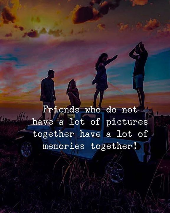 Friends who do not have a lot of pictures together..
