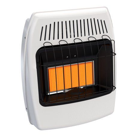 Dyna-Glo IRSS18NGT-2N 18,000 BTU Natural Gas Infrared Vent Free Thermostatic Wall Heater, White