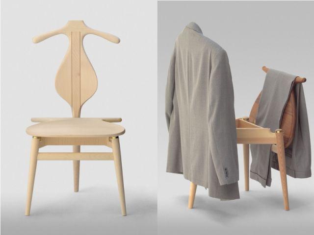 chaise valet editeur la boutique danoise design hans j wegner - Valet Chaise Bois