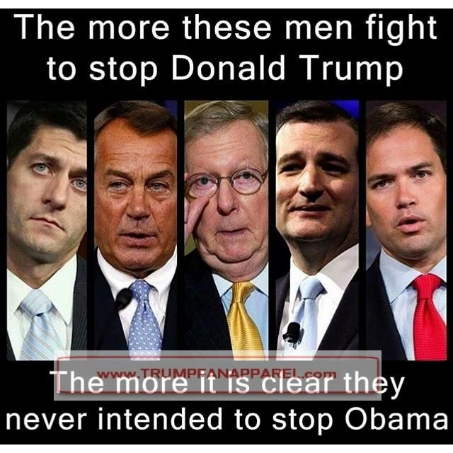 These men are a huge part of the Corruption in our Government..and they do not want an outsider like Trump to come in and clean house.