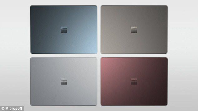 The laptop will also have a 'flocked Alcantara' keyboard which is 60 per cent polyester and feels like suede. It was also the material used on the Surface Pro 4 keyboard