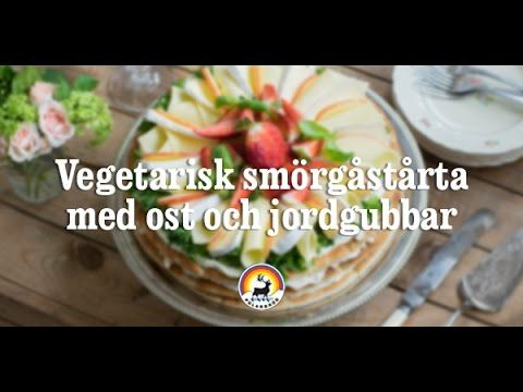 Smörgåstårta med ost och jordgubbar |  Polarbröd