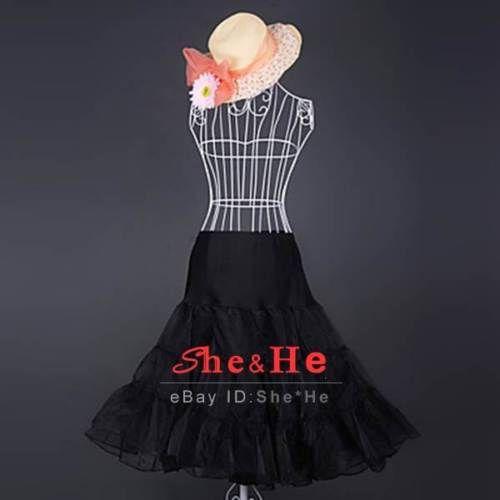 $15.99  On or before Dec 01  n-039-Roll-Swing-Prom-Crinoline-Petticoat-Underskirt-Slips-Women-Skirt-50s-TUTU
