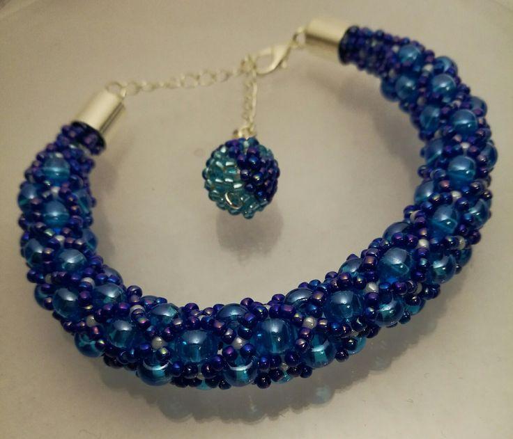 Blue moon bracelet hand made by Manufaktura Leo