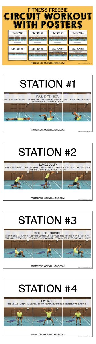 Fitness Stations | PE Fitness Activity | Free Resources | Middle School