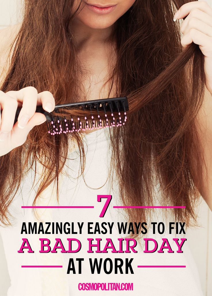 HOW TO FIX A BAD HAIR DAY AT WORK: We've all been there — your hair is looking cray but you're already at work and don't have time to fix it — until now! Use these simple ideas, hair hacks, and quick fixes to feel great about your hair again! Click through to learn how to fix frizzy hair, flat hair, static-y hair, oily hair, and so much more! With these tips, you can say BYE FELICIA to bad hair days for good!