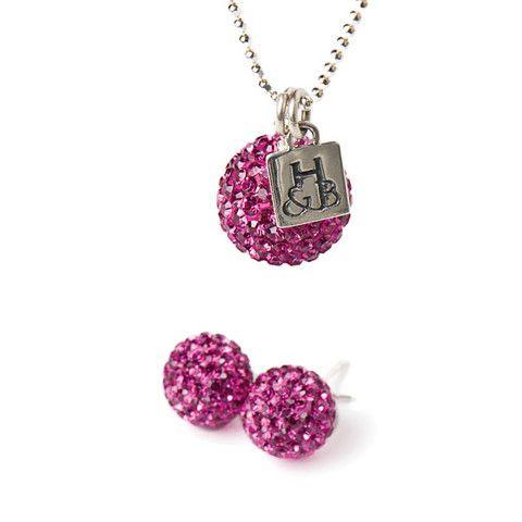 Fuschia Sparkle Earrings and Necklace Set – Hillberg & Berk