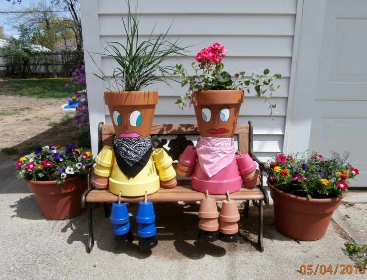Military Moms & Instructions To Make Flower Pot People