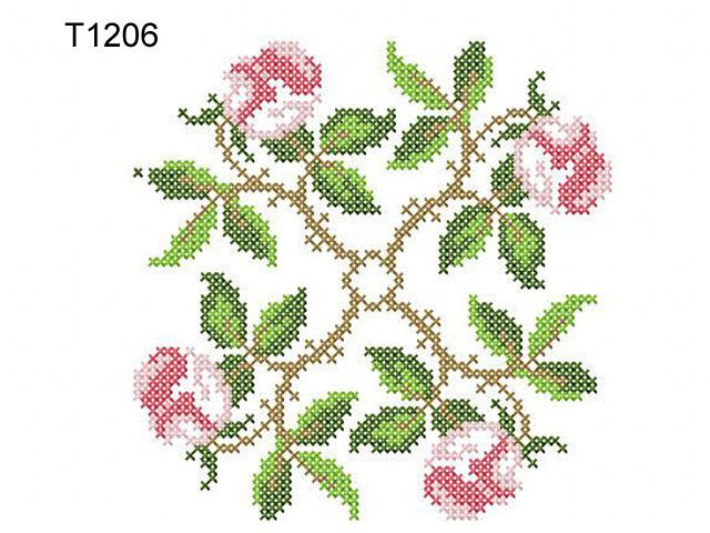 """cross stitch embroidery designs   Roses in the Cross Stitch Technique""""   Machine embroidery design"""