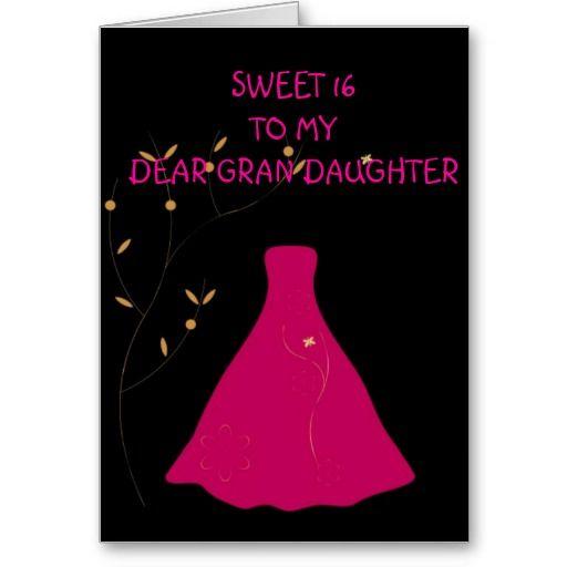 Sweet 16 Grandaughter Card