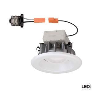 Commercial Electric, 4 in. Recessed White LED Trim, CER4741WH at The Home Depot - Mobile