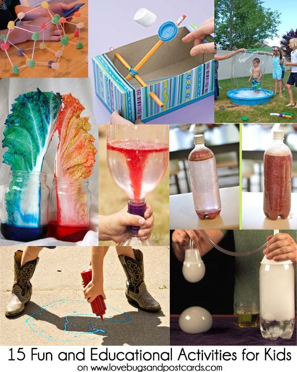 Try these fun and educational activities for kids. Make a volcano, a tornado, glitter jars (like snow globes), giant bubbles, dry ice bubbles, and more.