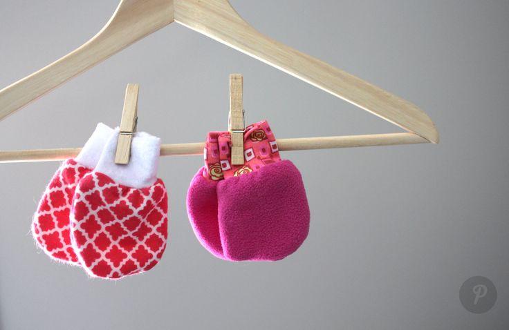 Mitaines bébé fille #rose #baby #diy